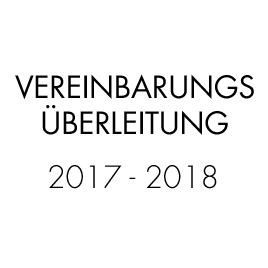 Vereinbarungsüberleitung 2017/2018